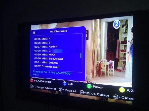 MBC Package, MBC 1, MBC2, MBC 3, MBC 4, MBC Action, MBC Max, MBC Bollywood
