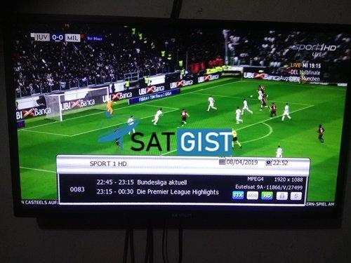 Sport 1HD on Eutelsat 9A At 9e, Sport 1HD CCCAM, Eutelsat 9A At 9e CCCAM