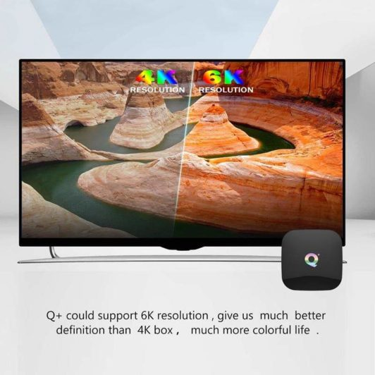 6K Resolution For Q Plus Smart TV Box