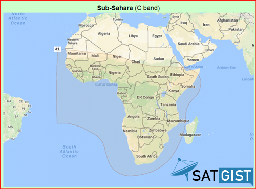 Nigeria Mux Satellite Coverage In Sub-Sahara Africa