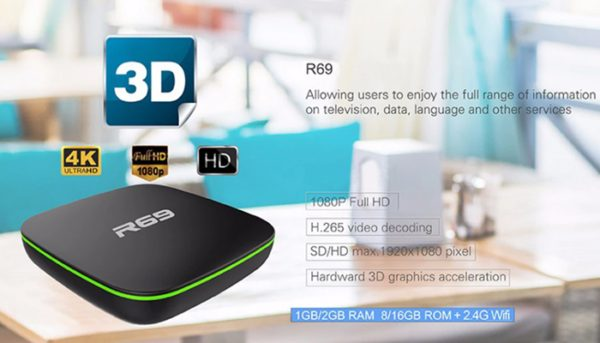 R69 TV Box Support 3D Games and price