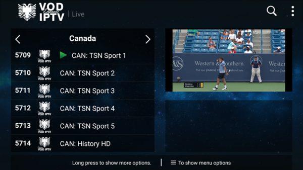 DStv IPTV Account On TSN Sport Canada