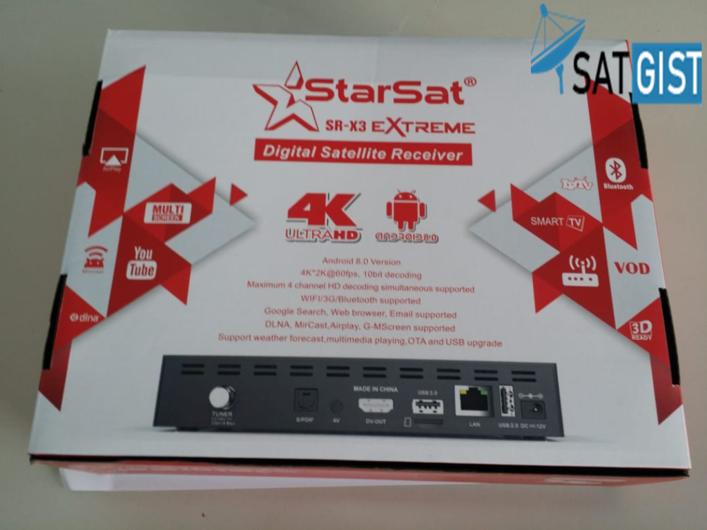 Starsat SR-X3 Extreme 4K Ultra Android And Satellite Decoder