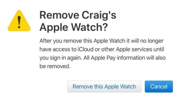 Remove Apple Watch