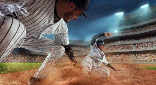Baseball Eating Dust