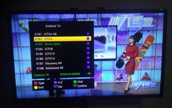 ELEVEN SPORT ON EUTELSAT 7A CHINESE MUX