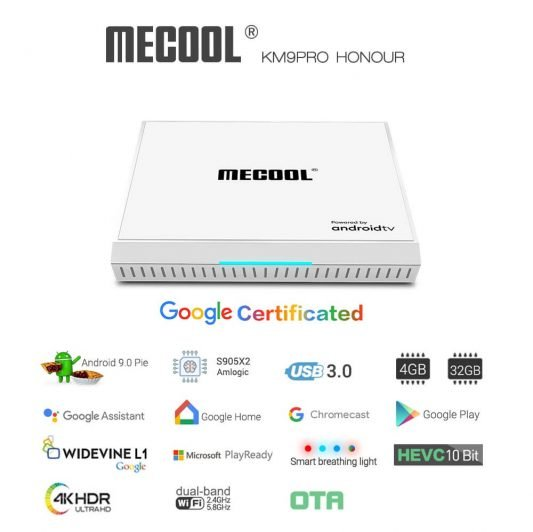 Mecool KM9 Pro Honour 4K Andorid TV Box
