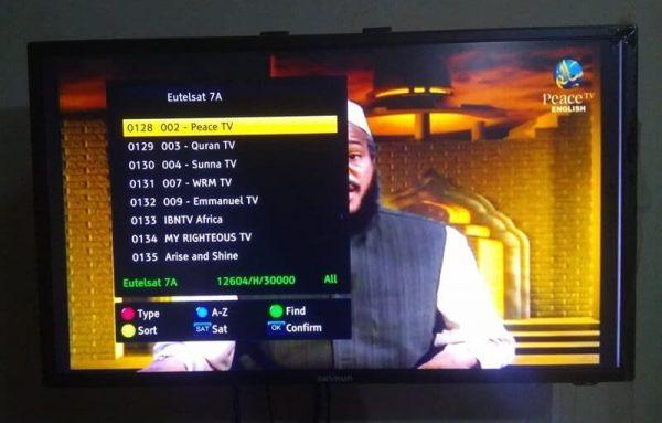PEACE TV ON EUTELSAT 7A AT 7.0E