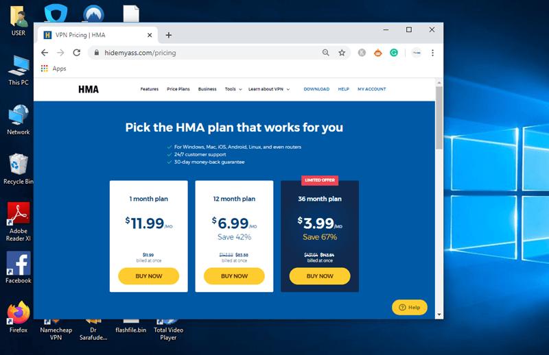 HMA VPN PRICING