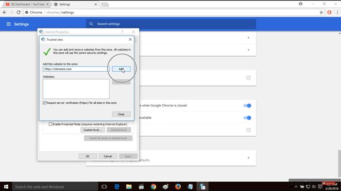 how to fix Invalid Server Certificate Error In Chrome