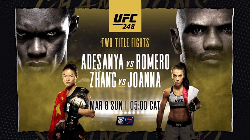 How To Watch Adesanya VS. Romero On Satellite TV: UFC 248 In Africa And Nigeria