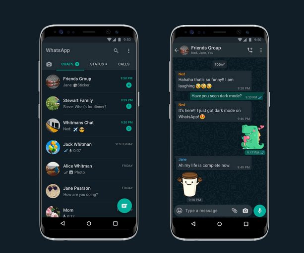 WhatsApp Dark Mode For Android And iPhone Devices