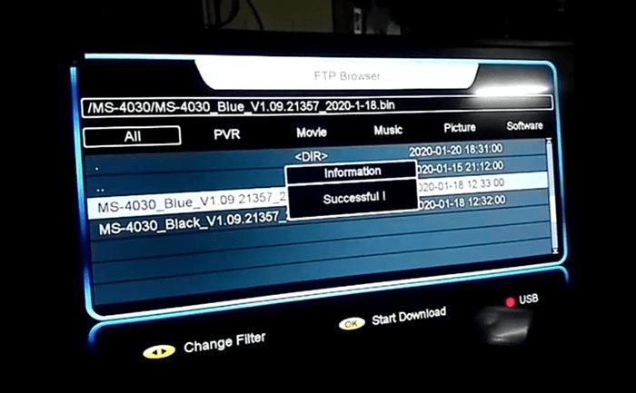 Mediastar MS 4030 4K Receiver Black Menu