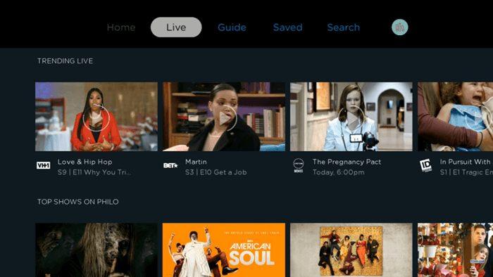 Philo Live TV Streaming Service