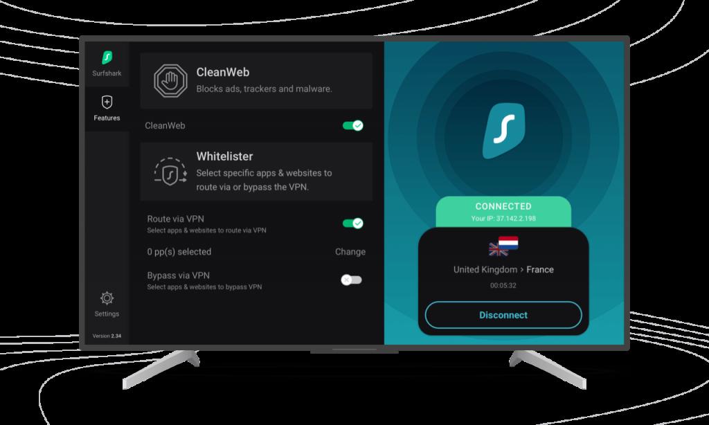 Surfshark VPN Connection Interface