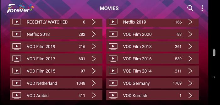 Forever IPTV VOD Content