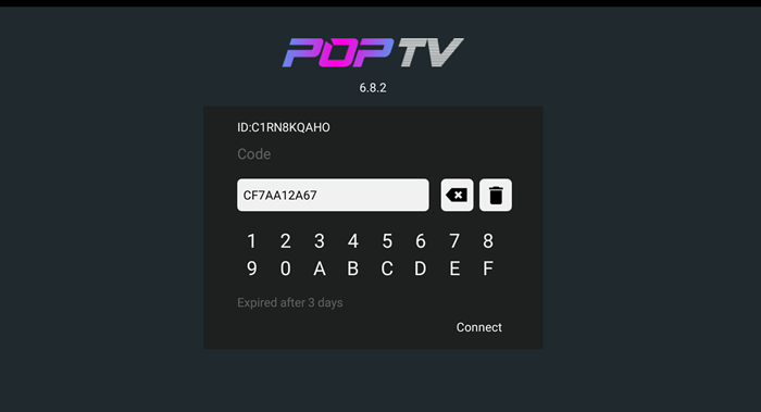 POP TV IPTV APP And Actvation Test Code