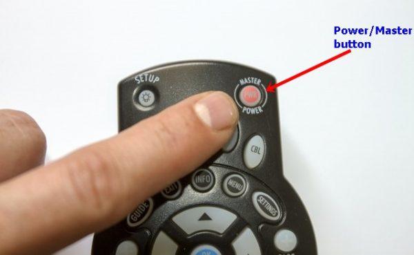 TWC Remote Power button